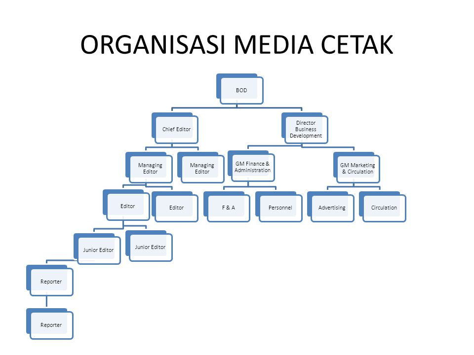 ORGANISASI MEDIA CETAK