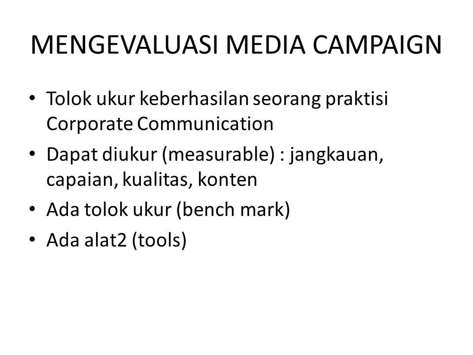 MENGEVALUASI MEDIA CAMPAIGN