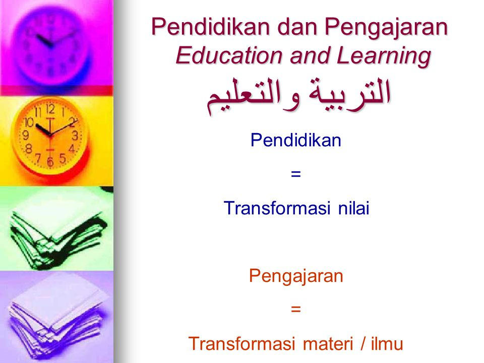 Pendidikan dan Pengajaran Education and Learning التربية والتعليم