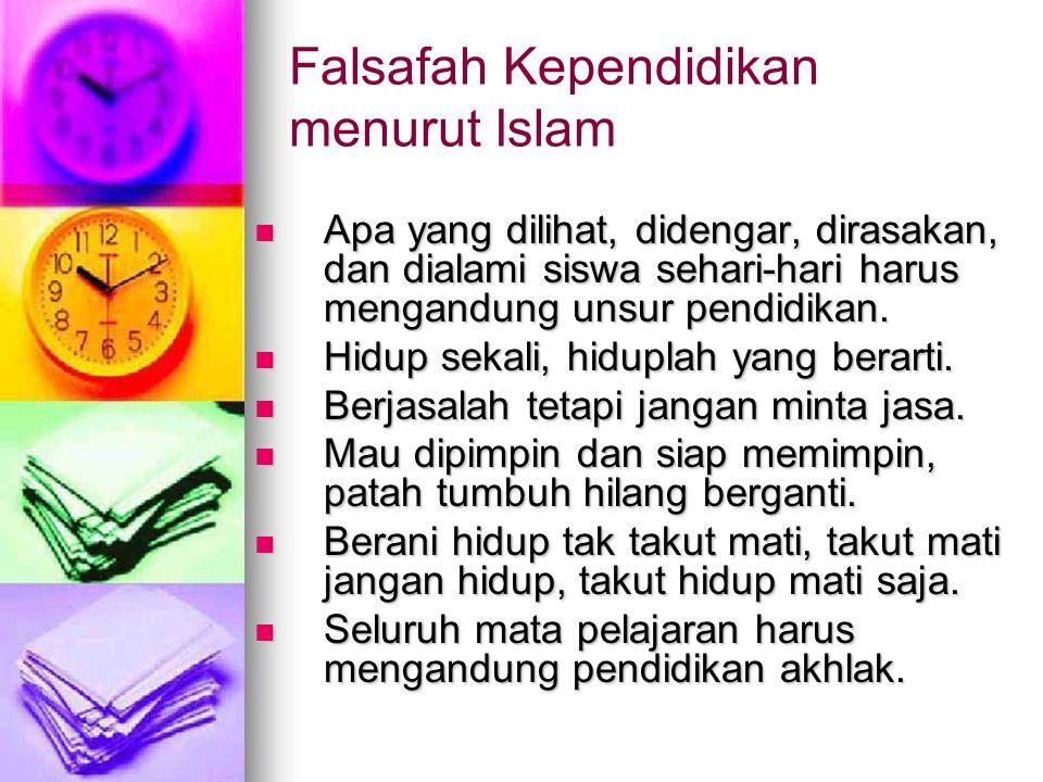 Falsafah Kependidikan menurut Islam