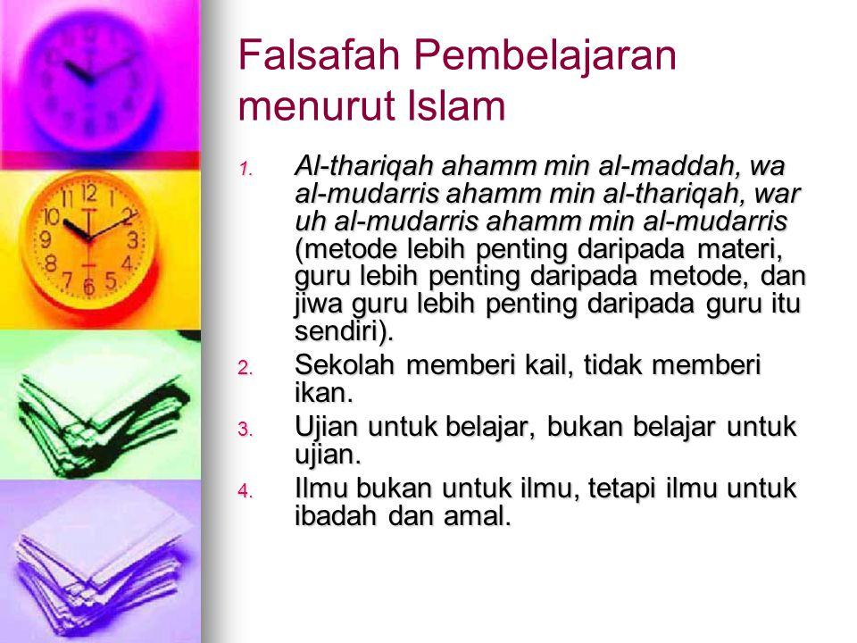 Falsafah Pembelajaran menurut Islam