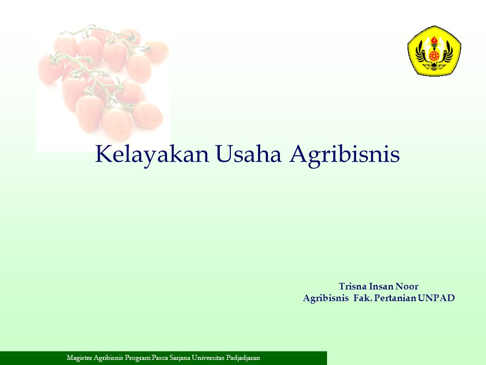 Agribisnis Fak. Pertanian UNPAD