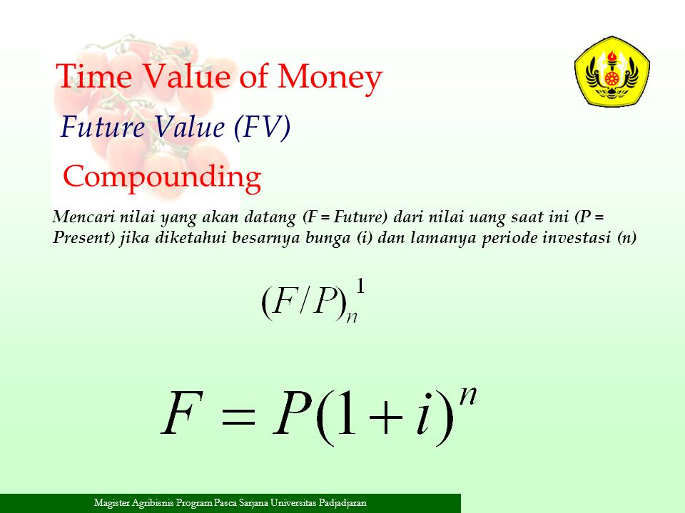 Time Value of Money Future Value (FV) Compounding