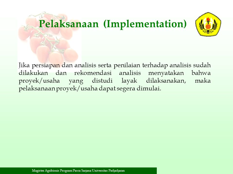 Pelaksanaan (Implementation)