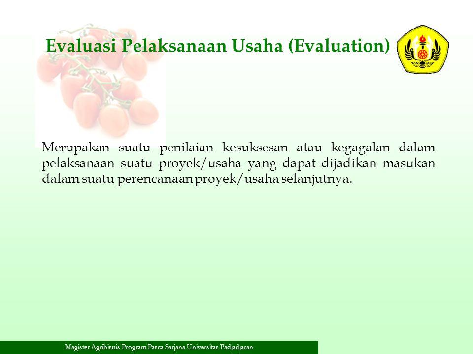 Evaluasi Pelaksanaan Usaha (Evaluation)