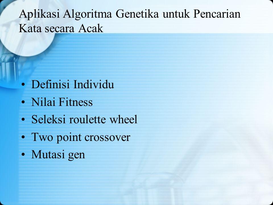 Aplikasi Algoritma Genetika untuk Pencarian Kata secara Acak