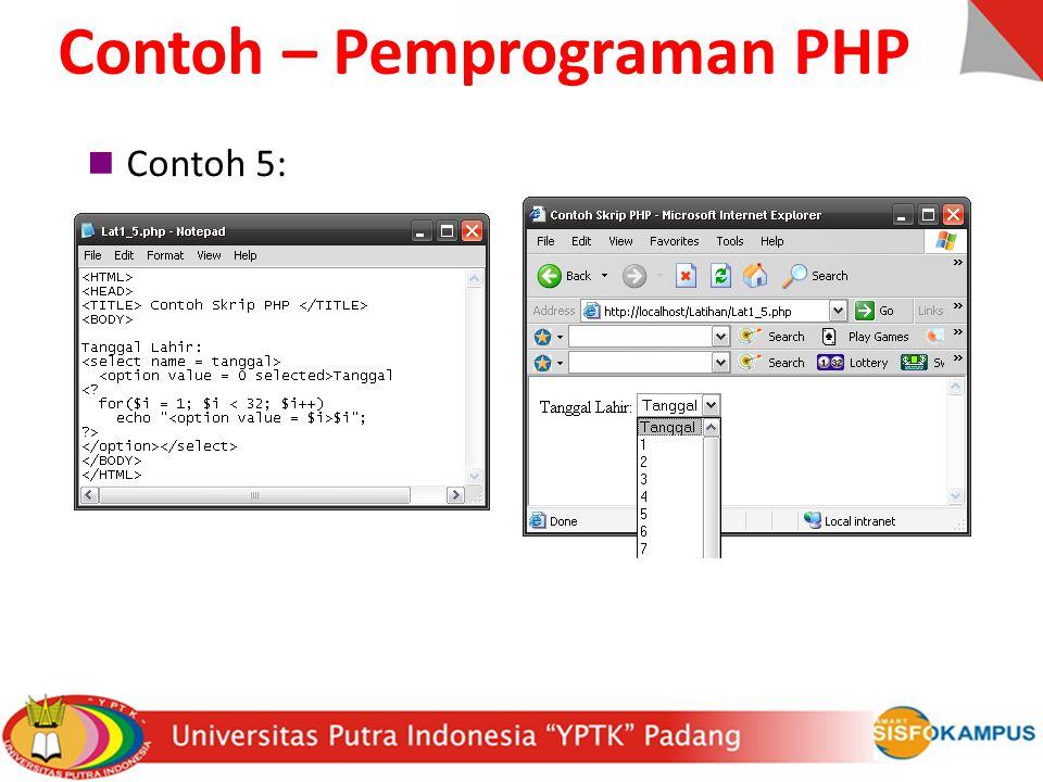 Contoh – Pemprograman PHP