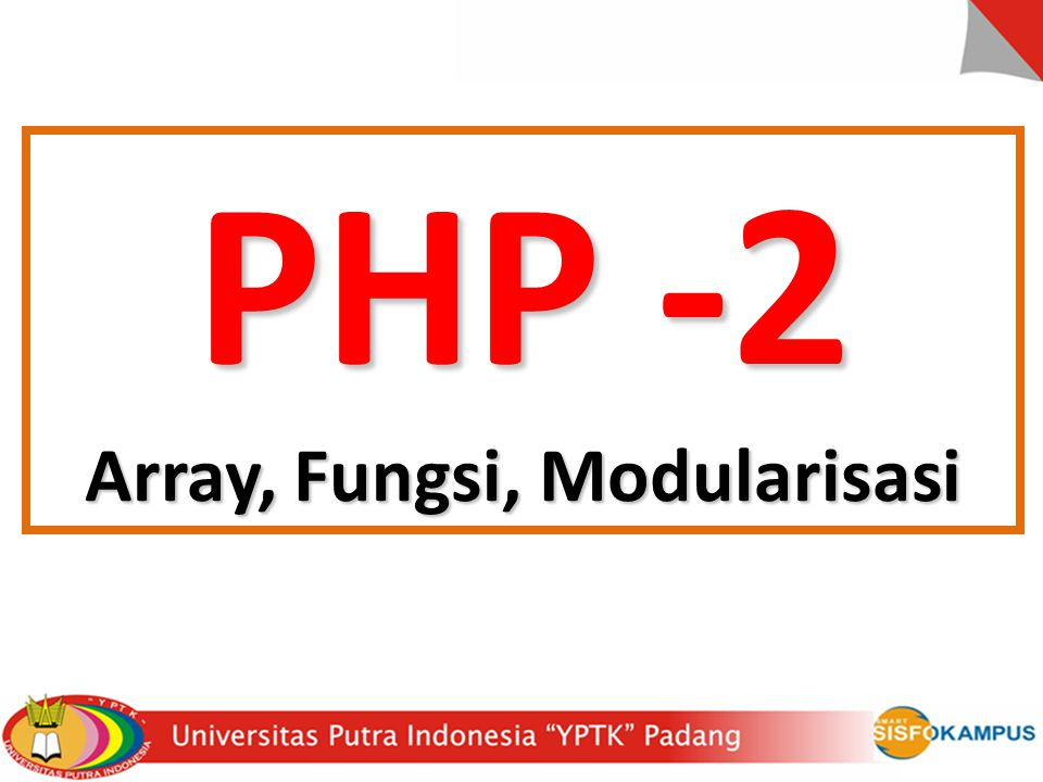 Array, Fungsi, Modularisasi