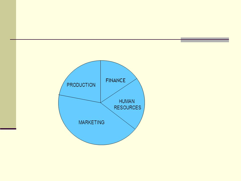 FINANCE PRODUCTION HUMAN RESOURCES MARKETING