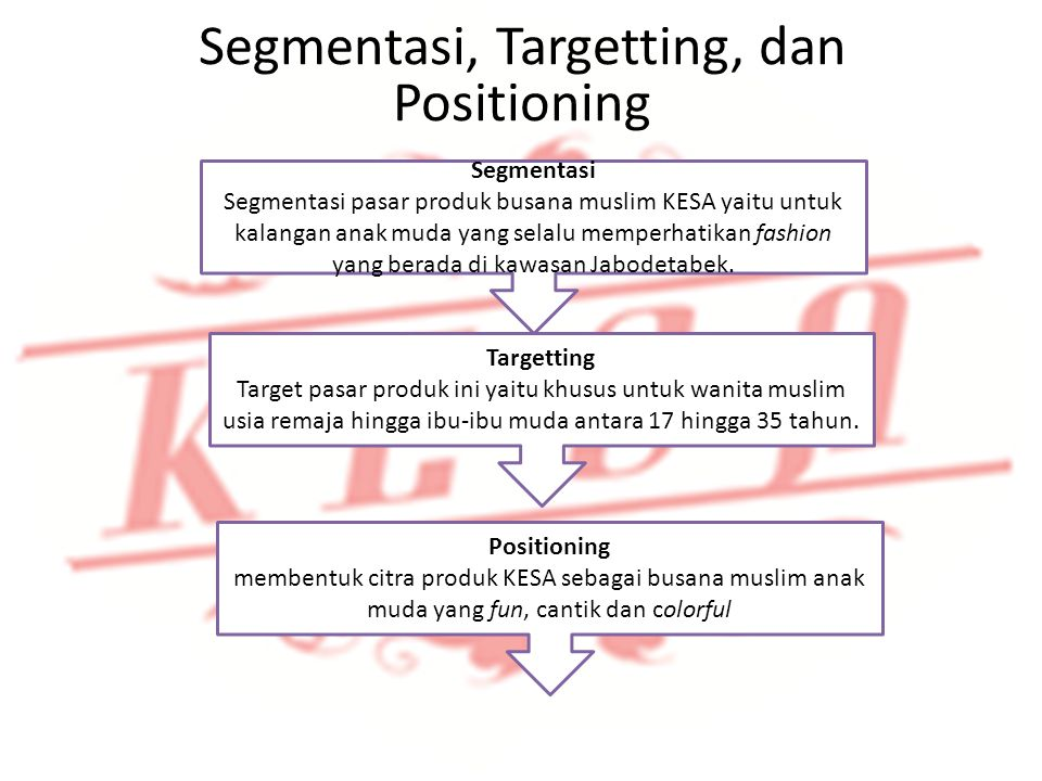 Segmentasi, Targetting, dan Positioning