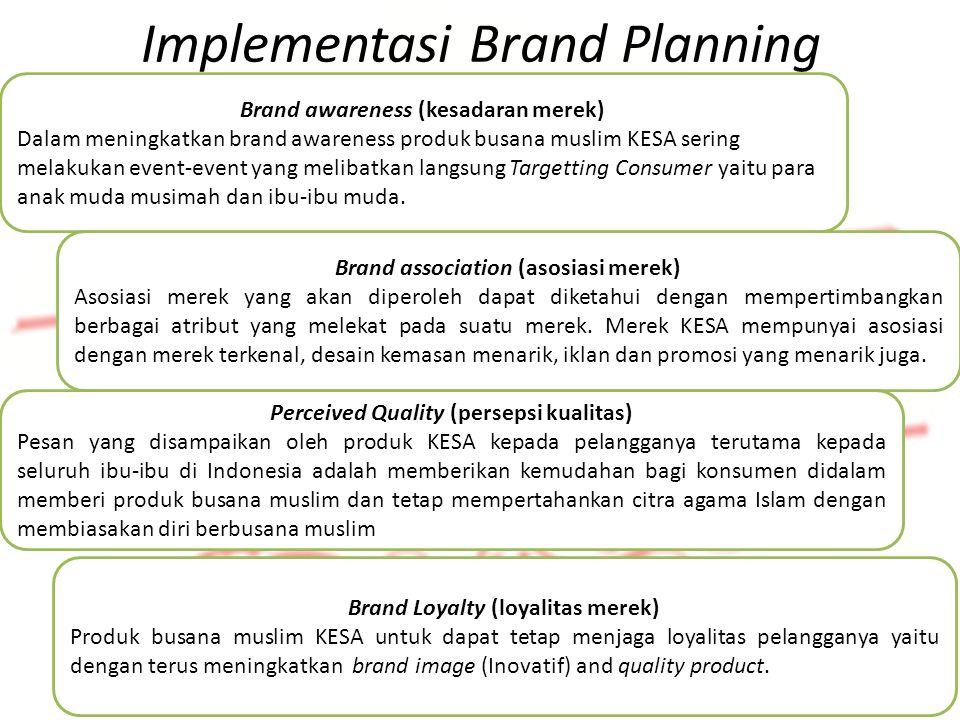 Identifikasi Produk Implementasi Brand Planning