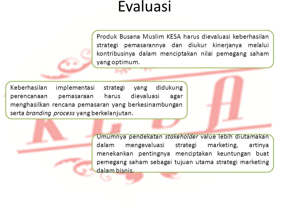 Identifikasi Produk Evaluasi