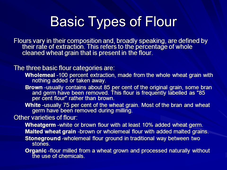 Basic Types of Flour
