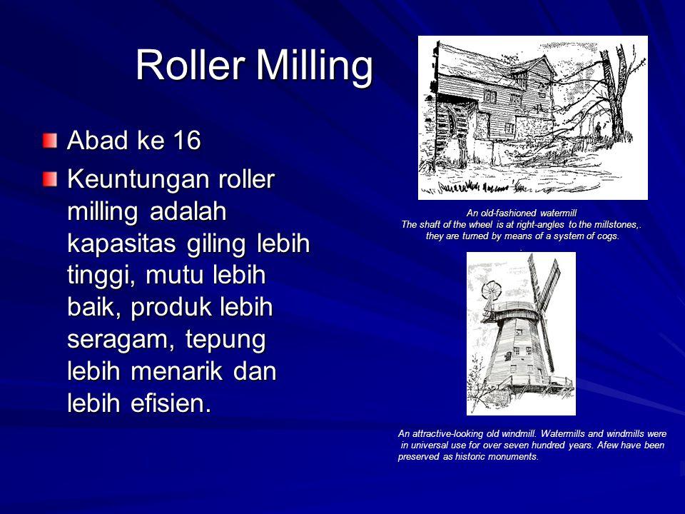 Roller Milling Abad ke 16.