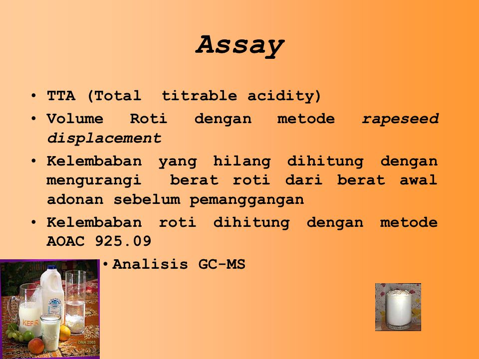 Assay TTA (Total titrable acidity)
