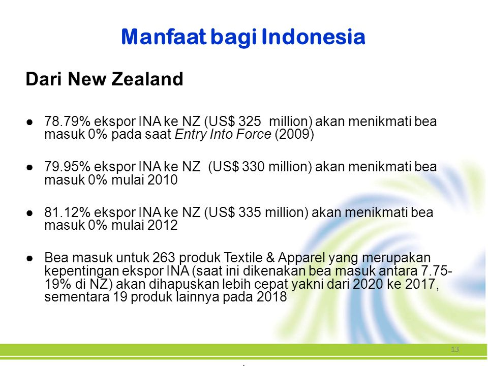 Manfaat bagi Indonesia