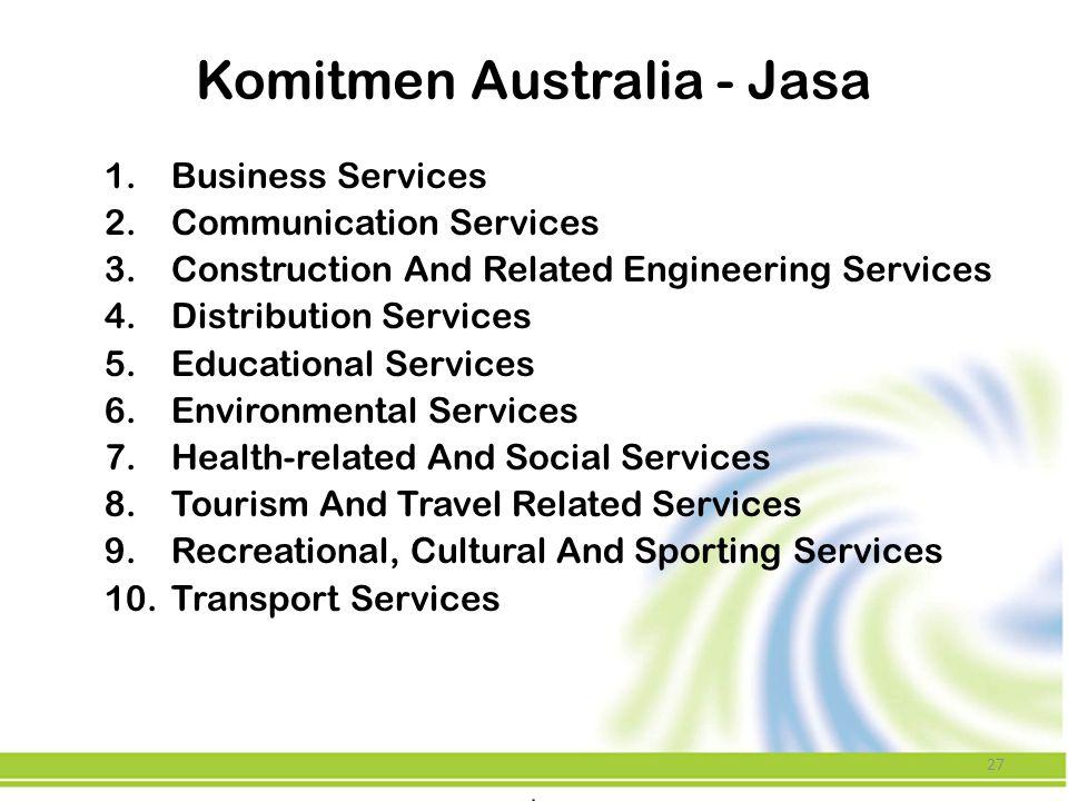 Komitmen Australia - Jasa