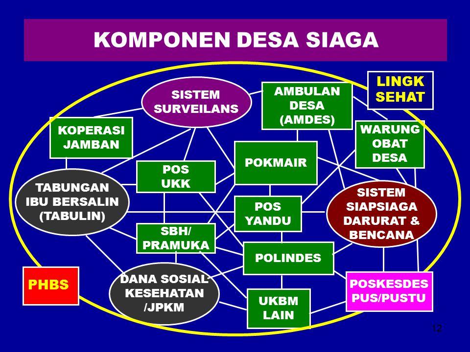 KOMPONEN DESA SIAGA LINGK SEHAT PHBS SISTEM SURVEILANS AMBULAN DESA