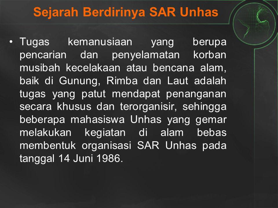 Sejarah Berdirinya SAR Unhas