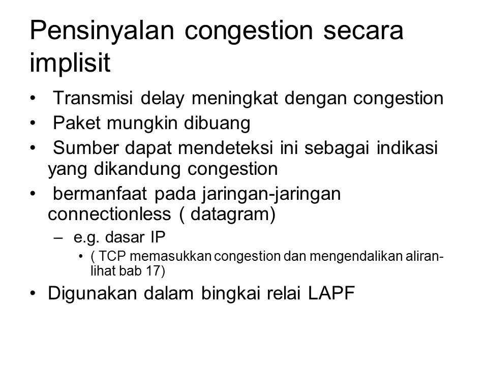 Pensinyalan congestion secara implisit