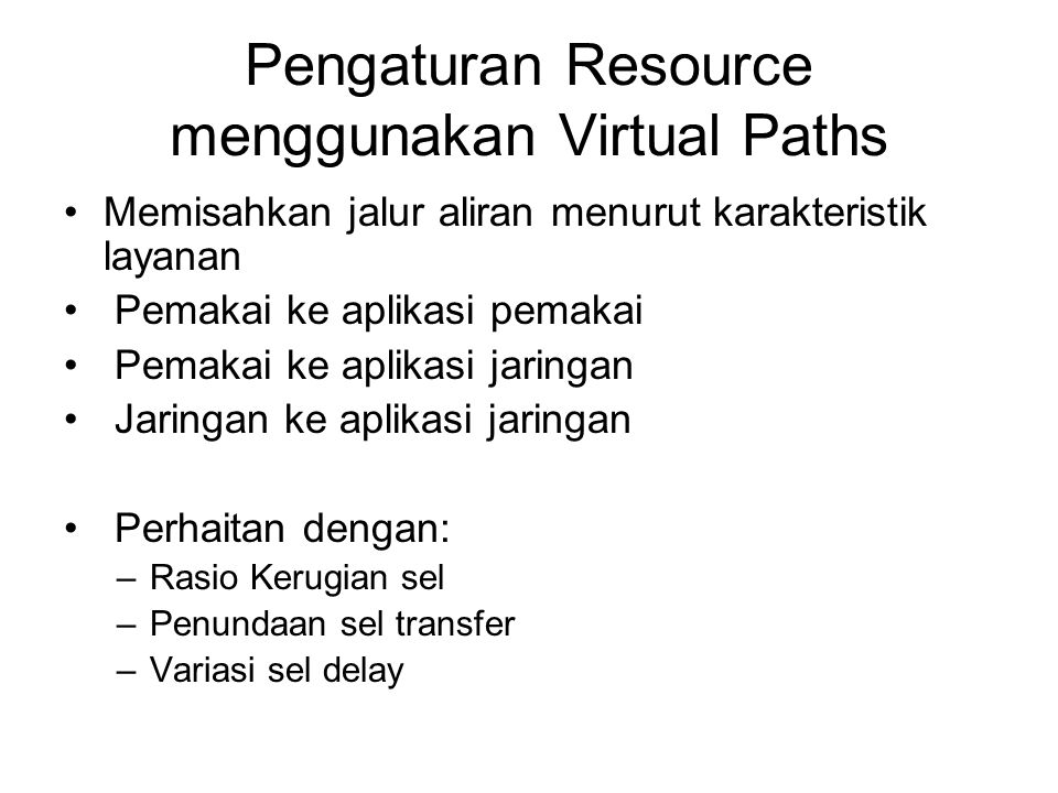 Pengaturan Resource menggunakan Virtual Paths