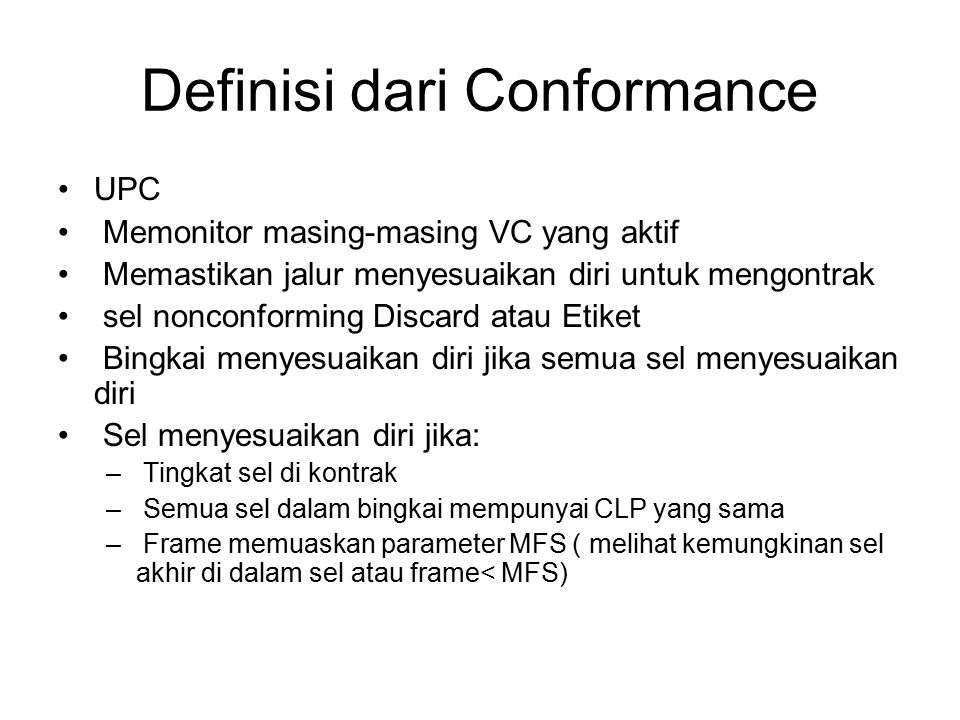 Definisi dari Conformance