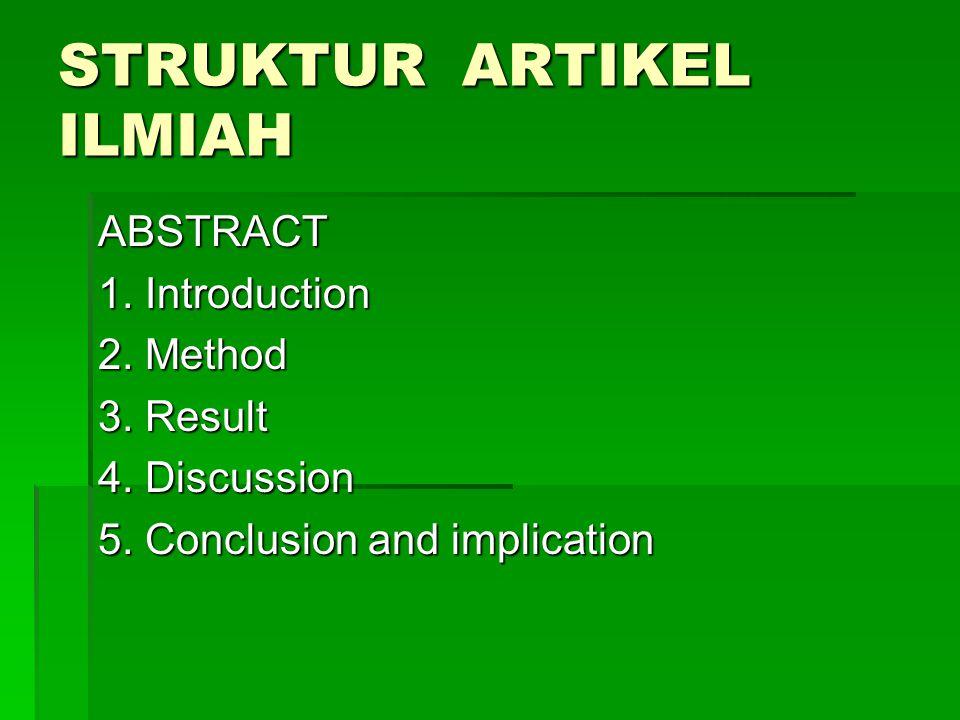 STRUKTUR ARTIKEL ILMIAH