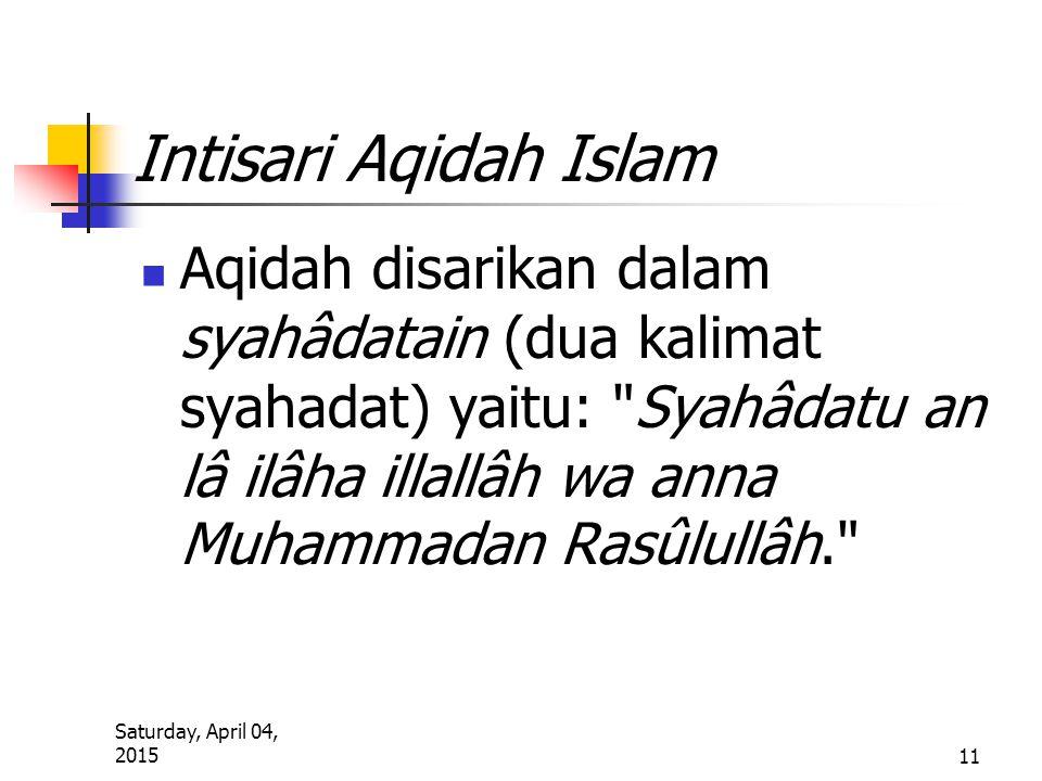 Intisari Aqidah Islam