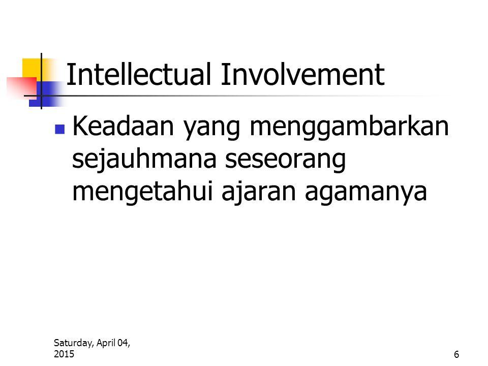 Intellectual Involvement