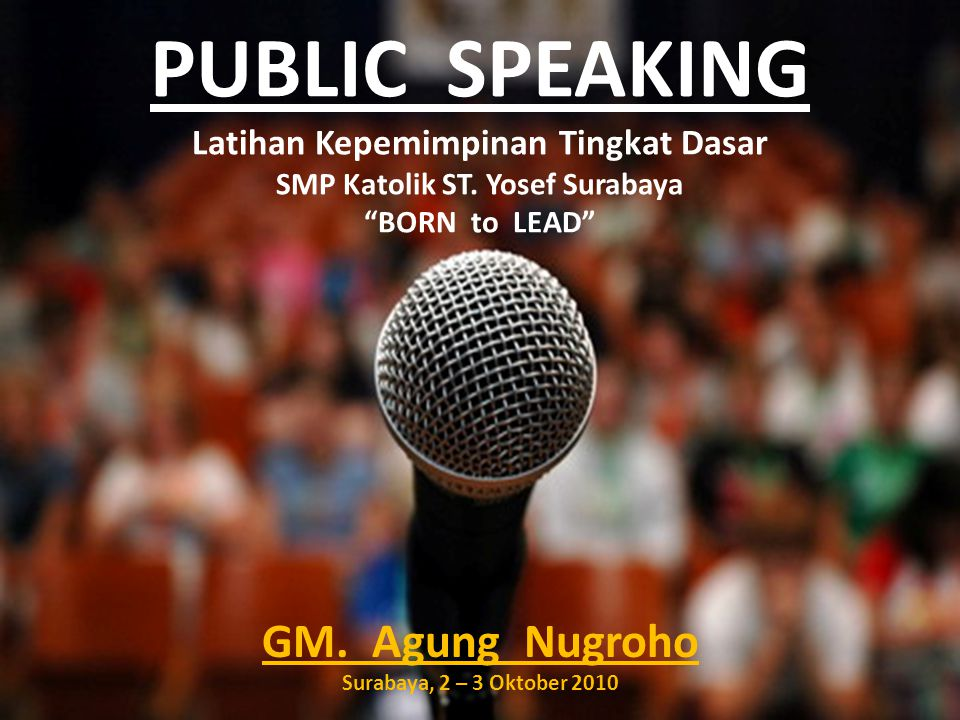 GM. Agung Nugroho Surabaya, 2 – 3 Oktober 2010