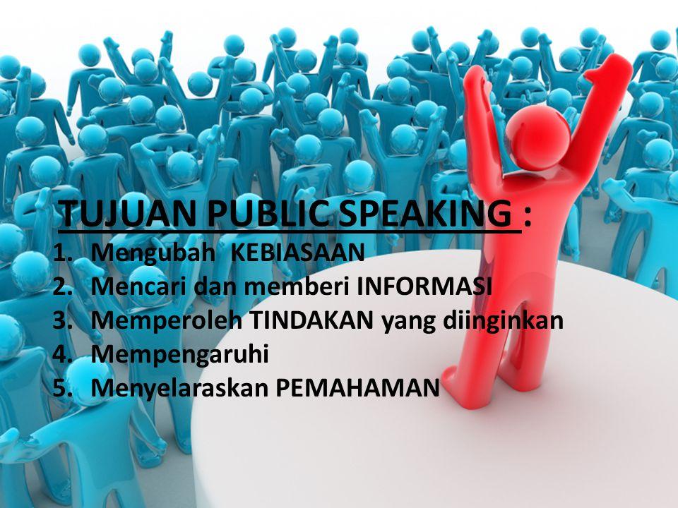 TUJUAN PUBLIC SPEAKING :