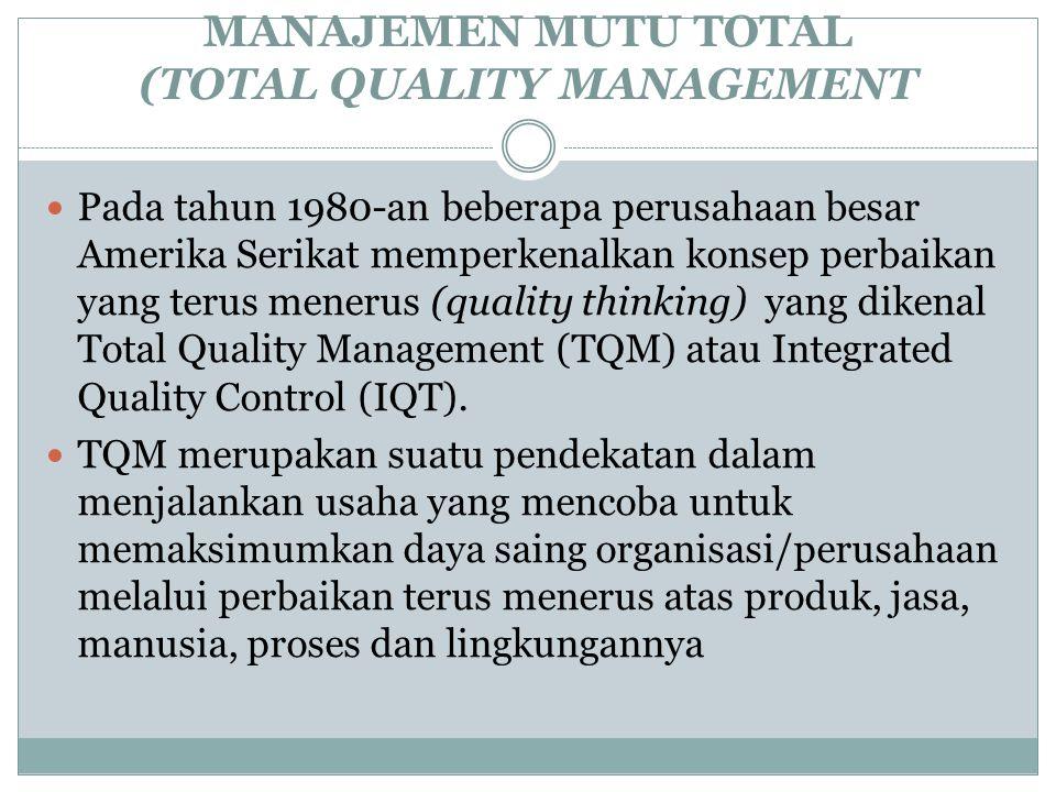 MANAJEMEN MUTU TOTAL (TOTAL QUALITY MANAGEMENT