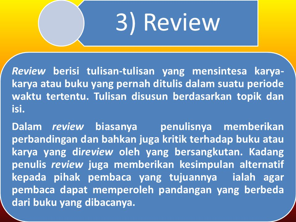 3) Review