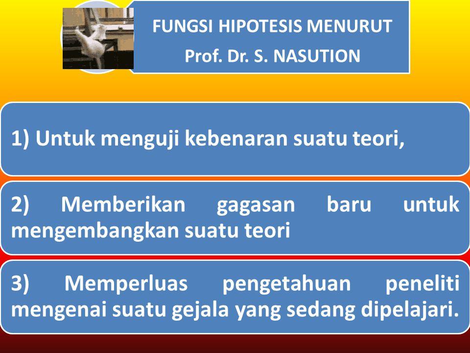 FUNGSI HIPOTESIS MENURUT