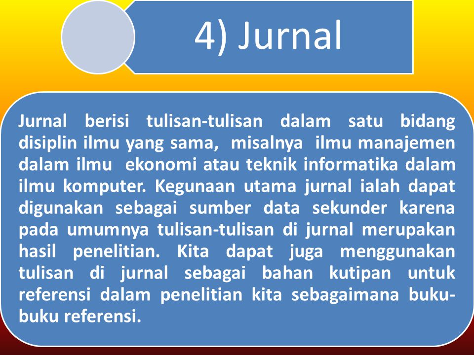 4) Jurnal