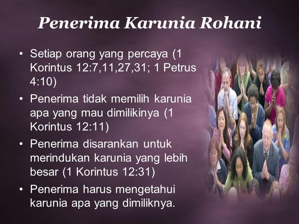 Penerima Karunia Rohani