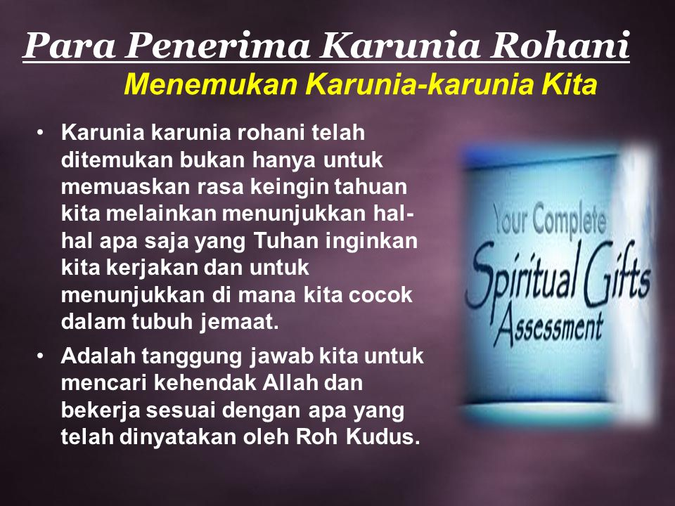 Para Penerima Karunia Rohani