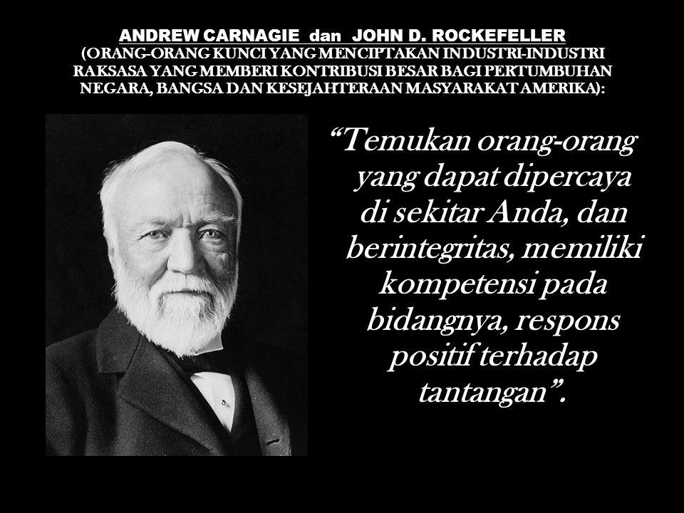 ANDREW CARNAGIE dan JOHN D