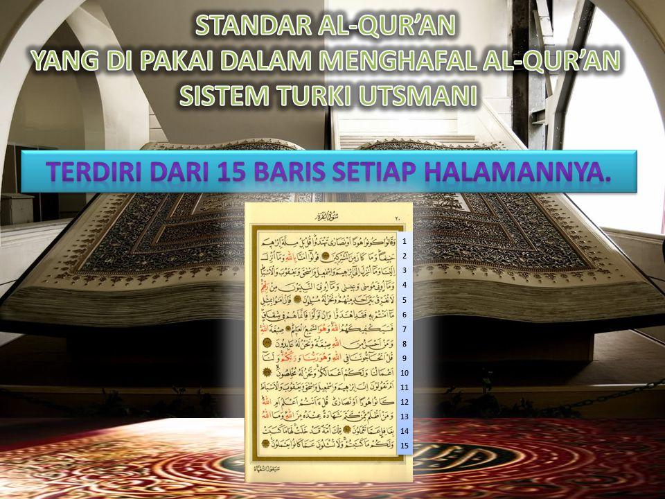 YANG DI PAKAI DALAM MENGHAFAL AL-QUR'AN SISTEM TURKI UTSMANI