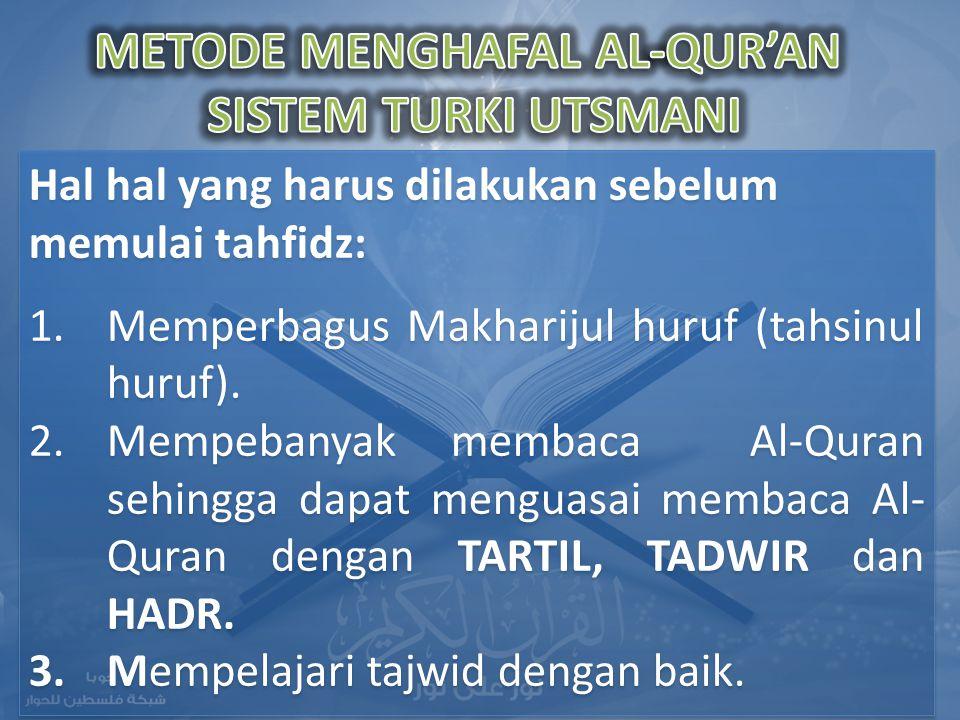 METODE MENGHAFAL AL-QUR'AN