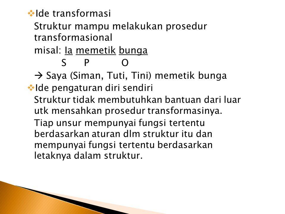 Struktur mampu melakukan prosedur transformasional