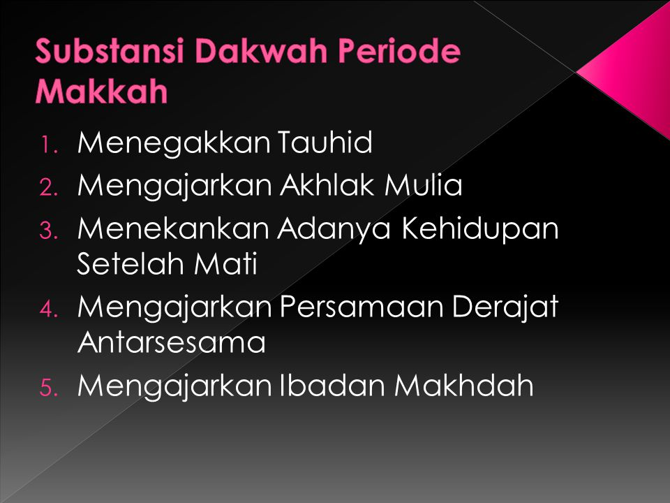 Substansi Dakwah Periode Makkah