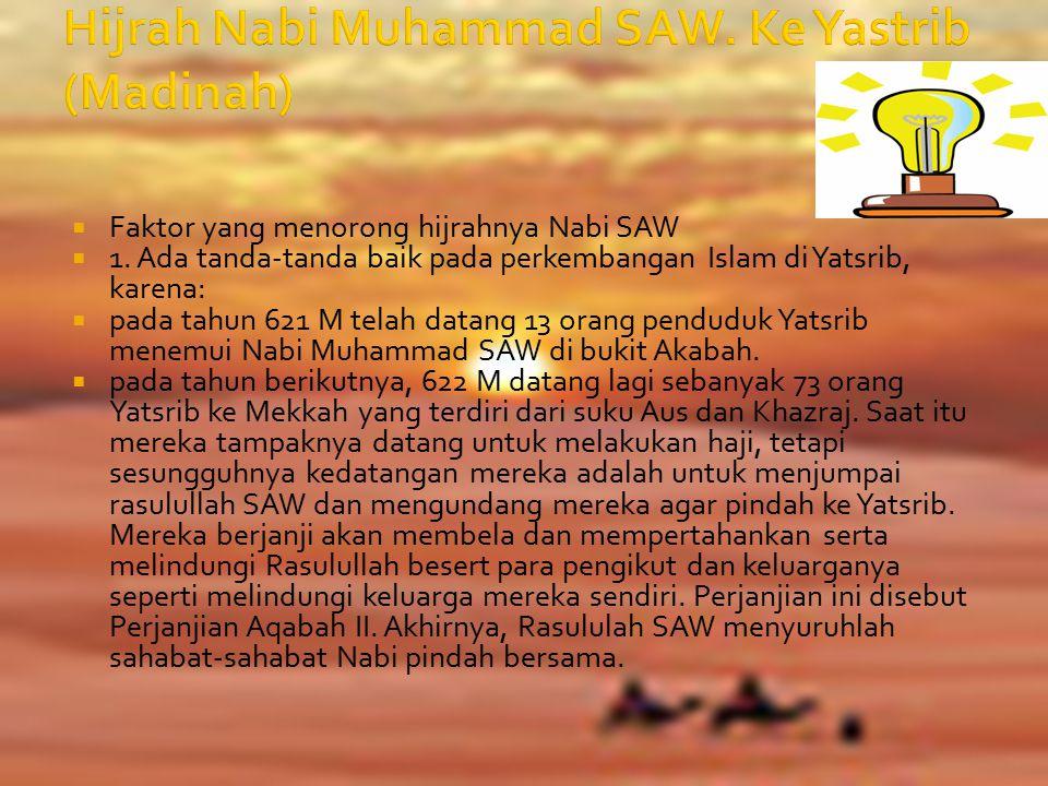 Hijrah Nabi Muhammad SAW. Ke Yastrib (Madinah)
