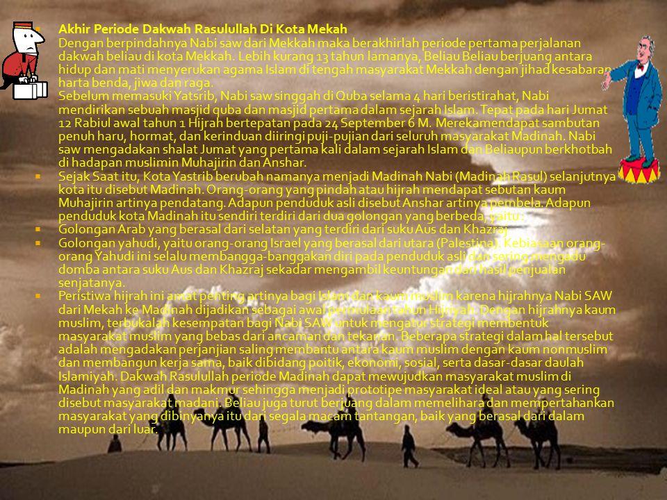 Akhir Periode Dakwah Rasulullah Di Kota Mekah