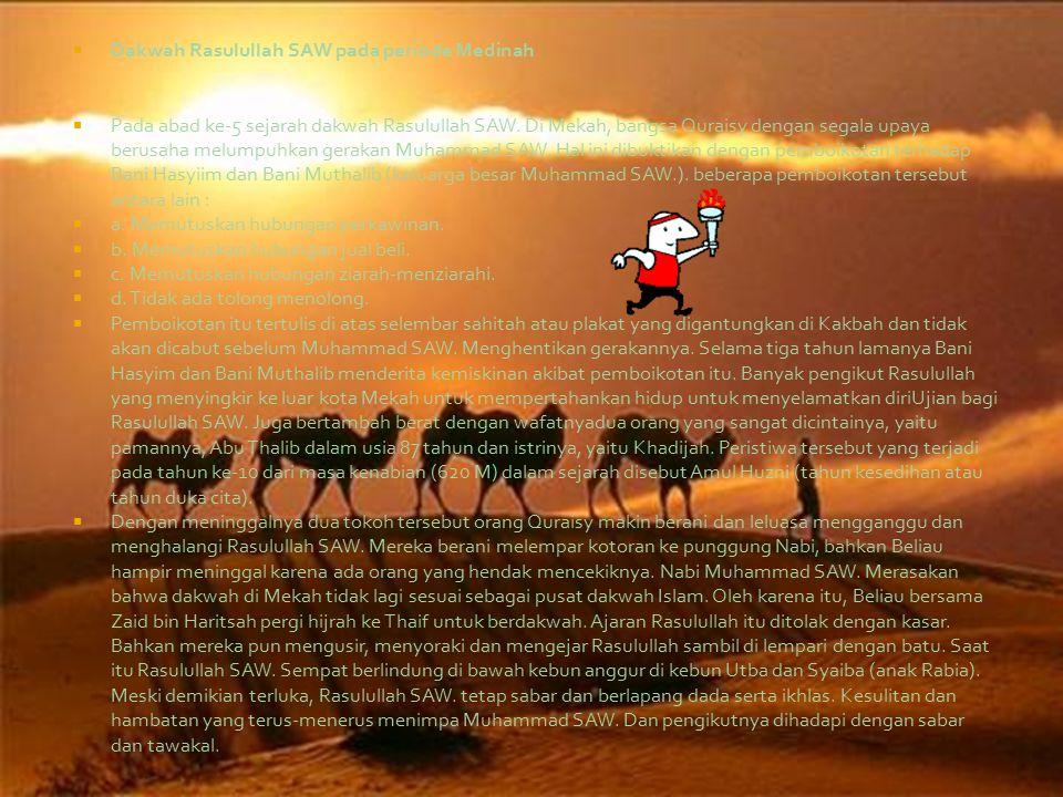 Dakwah Rasulullah SAW pada periode Medinah