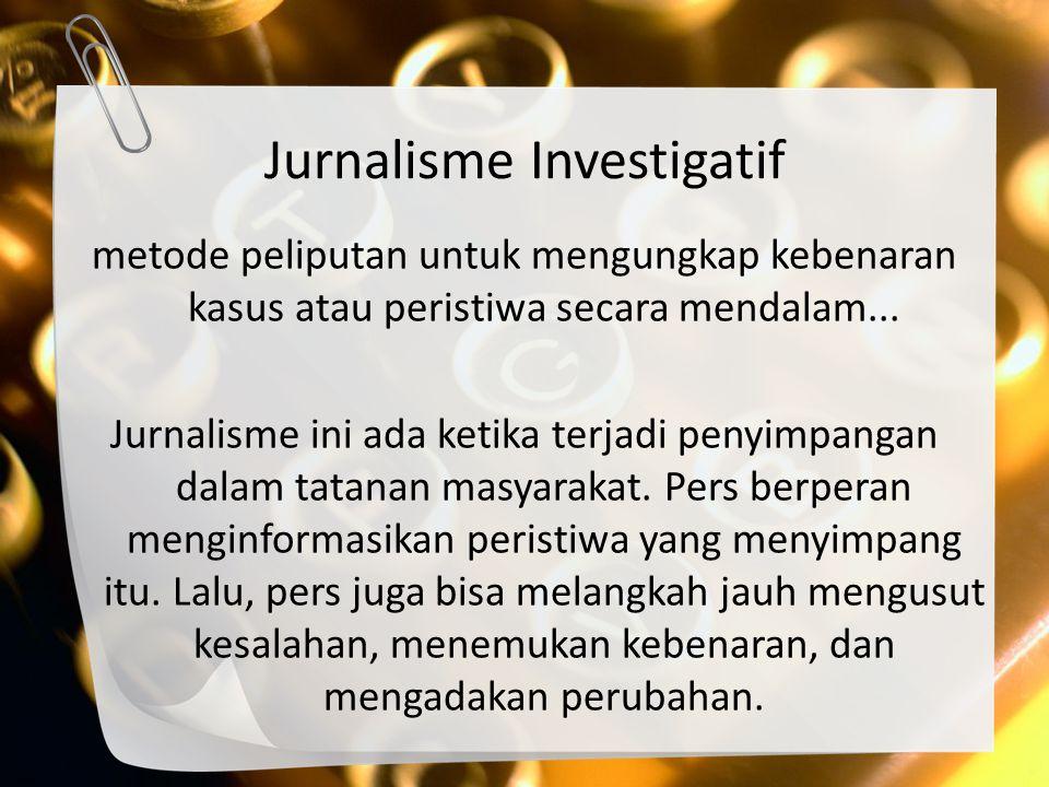 Jurnalisme Investigatif