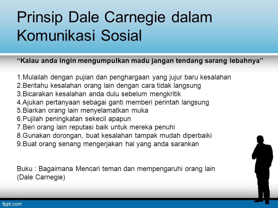 Prinsip Dale Carnegie dalam Komunikasi Sosial