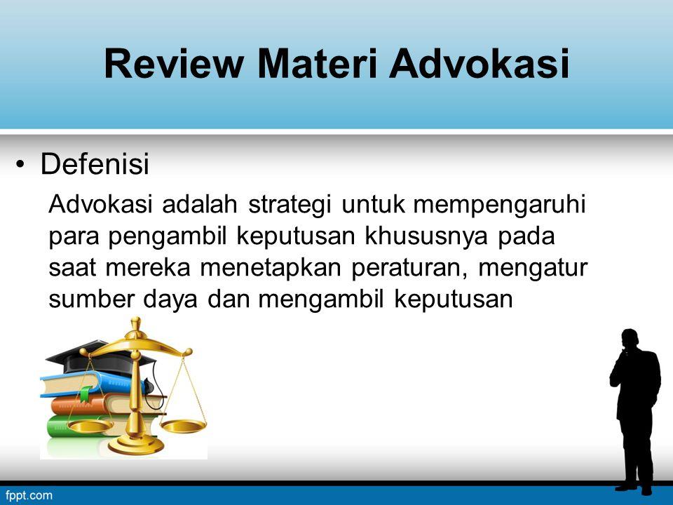 Review Materi Advokasi
