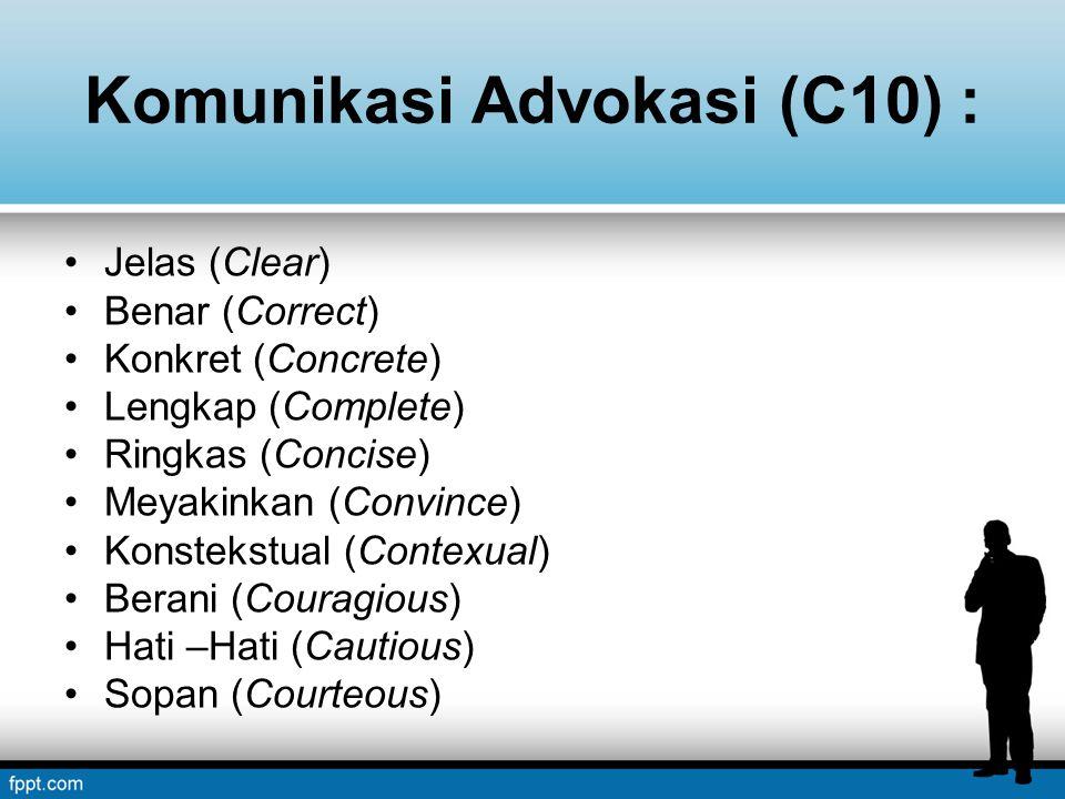 Komunikasi Advokasi (C10) :