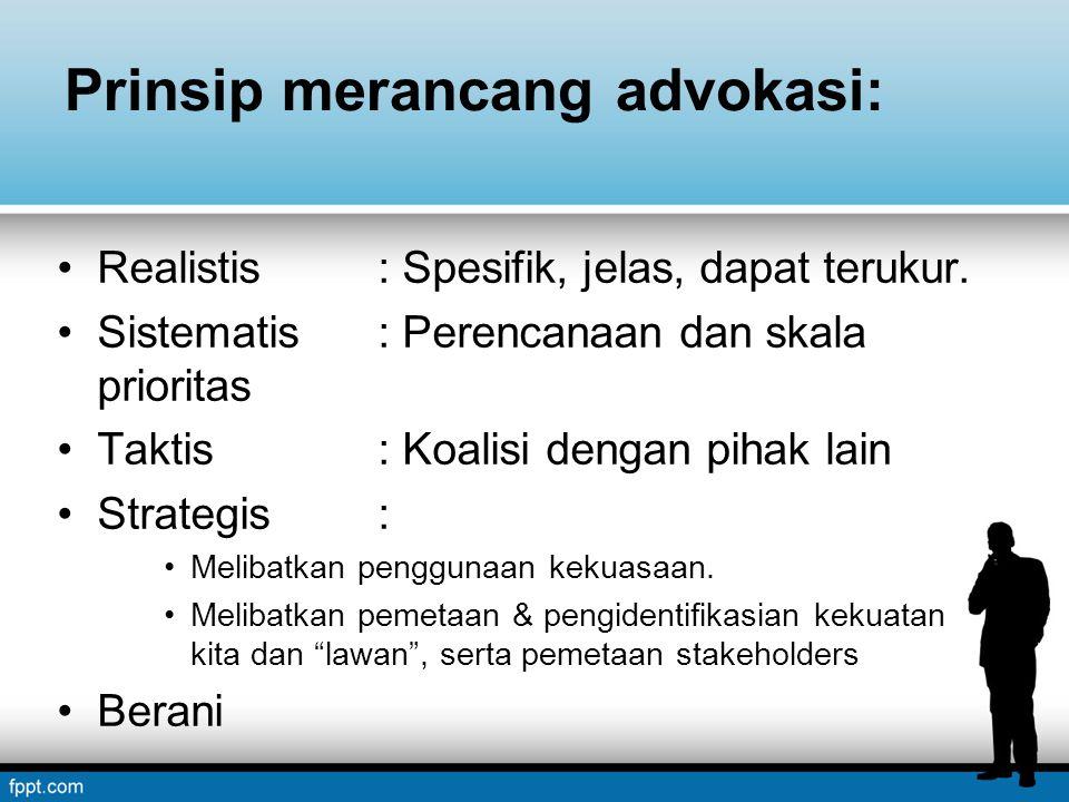 Prinsip merancang advokasi: